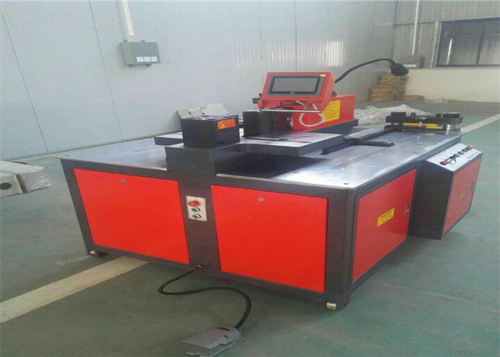 Hydraulic CNC Busbar Bending Machine , Busbar Fabrication Machine 3x4KW
