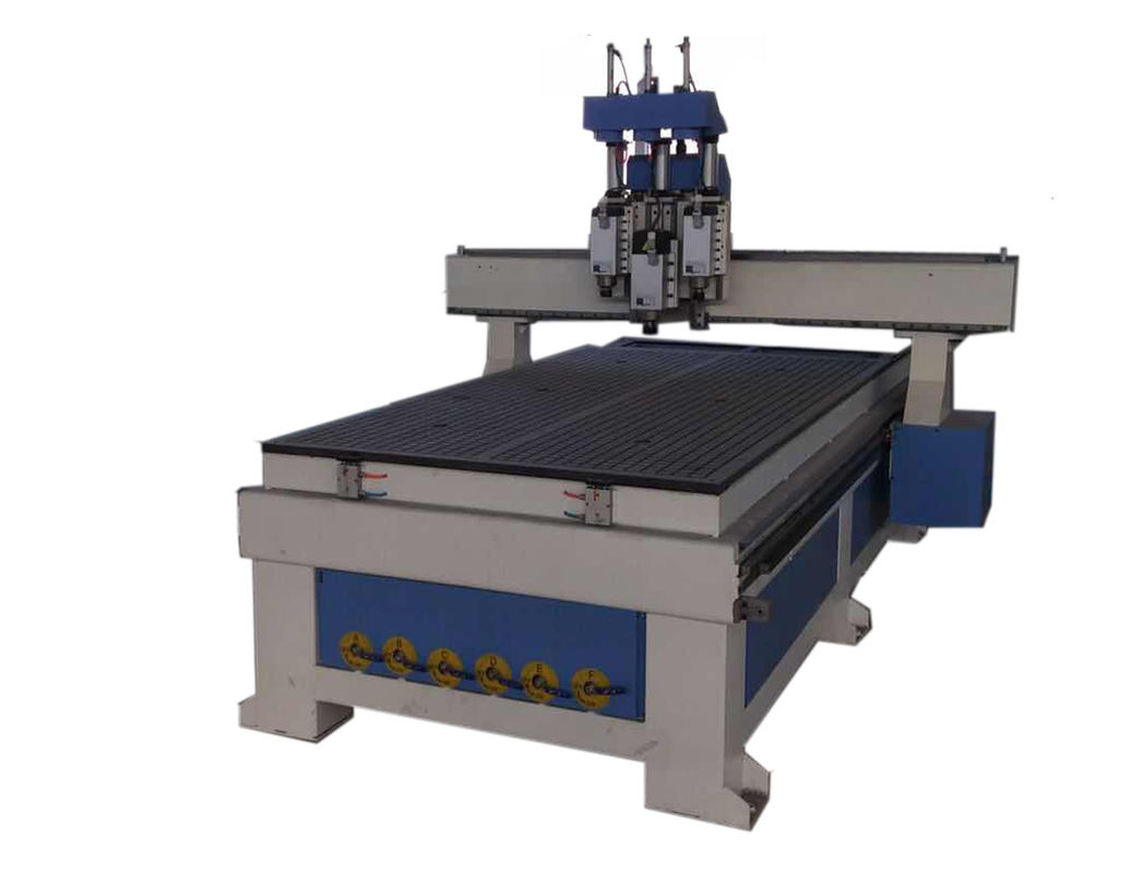 Popular 3 Head CNC Router Woodworking Machine For Wood Door Processing