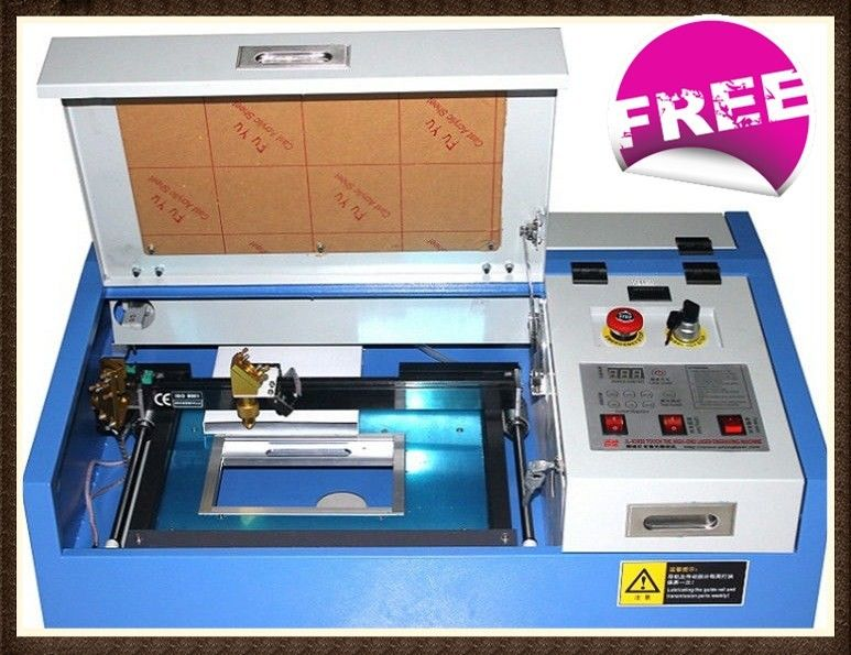 CNC CO2 Mini Laser Engraving Machine For Metal / Leather / Cloth 300 X 200mm